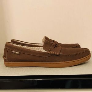 COLE HAAN PINCH CANVAS LOAFERS
